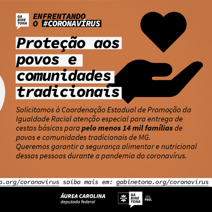 Solicitamos atenção especial à segurança alimentar de povos e comunidades tradicionais de Minas Gerais