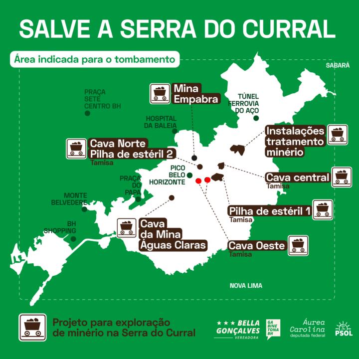 Com movimentos sociais e mandatos parceiros, Áurea pressiona por tombamento da Serra do Curral como patrimônio de MG